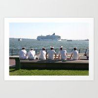 missed the boat Art Print