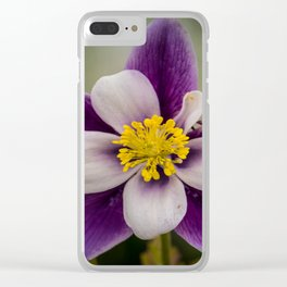Columbine flower Clear iPhone Case