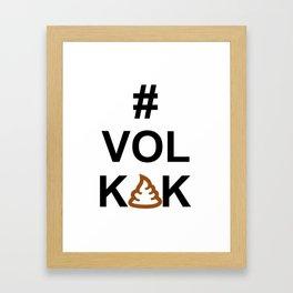 Vol KAK typography Framed Art Print