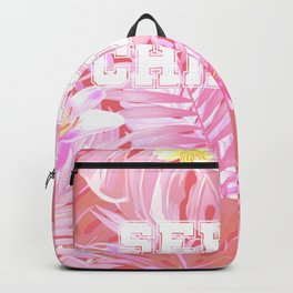 Blush pink tropical serial chiller Backpack