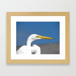 On the pier 1 Framed Art Print