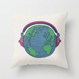 World Music Throw Pillow