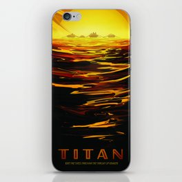 Titan : NASA Retro Solar System Travel Posters iPhone Skin