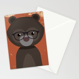 Hipster Bear Stationery Cards