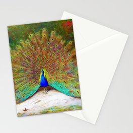 Archibald Thorburn - Peacock and Peacock Butterfly - Digital Remastered Edition Stationery Cards