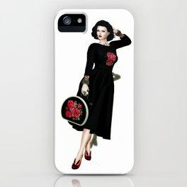 Rockabilly gurl iPhone Case