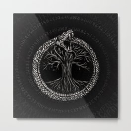 Ouroboros with Tree of Life Metal Print