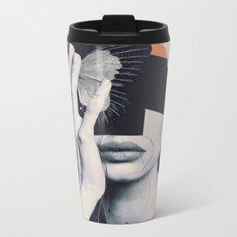 collage art / butterfly Metal Travel Mug