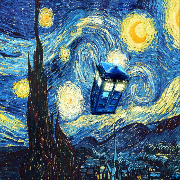 Soaring Tardis doctor who starry night iPhone 4 4s 5 5c 6, pillow case, mugs and tshirt Comforters