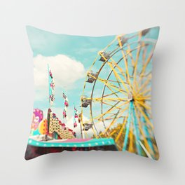 summer carnival fun Throw Pillow