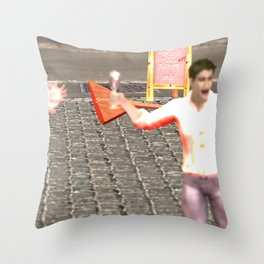 SquaRed: New Order Same Rules Throw Pillow