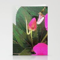 hot pink Stationery Cards featuring Hot Pink by Glenn Designs