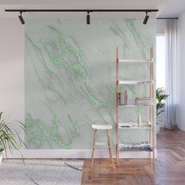 Marble Love Green Metallic Wall Mural