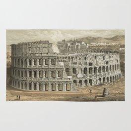 Vintage Illustration of The Roman Colosseum (1872) Rug