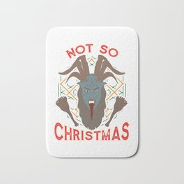 Not So Christmas Funny Devil Satanic Paganism Bath Mat
