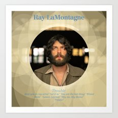 Album Cover Ray LaMontagne Art Print