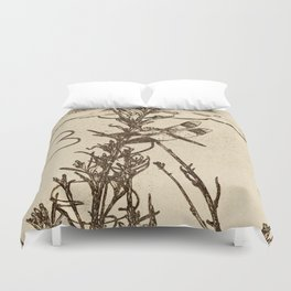 Firefly and Lily Pads Earth Tone Duvet Cover