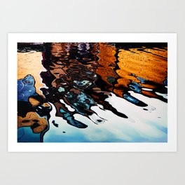 Reflections in the Harbour Art Print