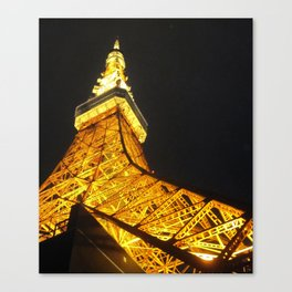 Tokyo Tower by Night Canvas Print