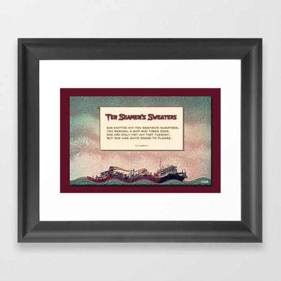 Ten Seamen's Sweaters Framed Art Print