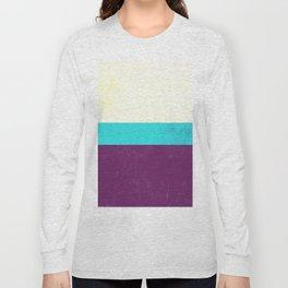 Textured Purple, Blue, White Long Sleeve T-shirt