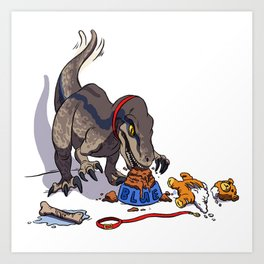 Dinosaurs to eat Art Print