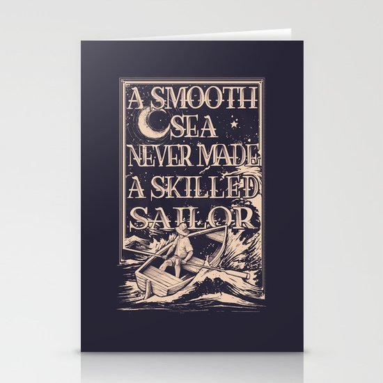 A Smooth Sea Stationery Cards
