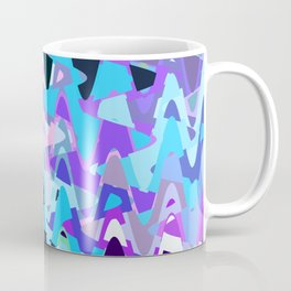 Electric waves, technological abstraction in rich colors, music waves in violet Coffee Mug