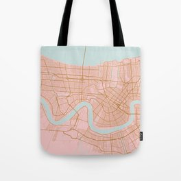 New Orleans map, Lousiana Tote Bag