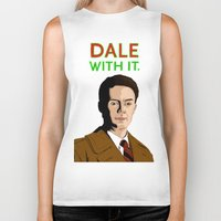 dale cooper Biker Tanks featuring DALE WITH IT. by Chris Piascik