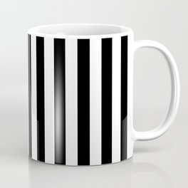 Stripes Black and White Vertical Coffee Mug
