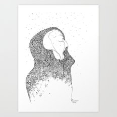 Snow, you calm me. Art Print