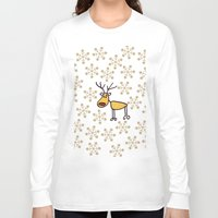 reindeer Long Sleeve T-shirts featuring Reindeer by Mr and Mrs Quirynen