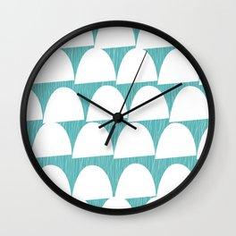 Shroom reverse aqua Wall Clock