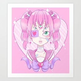 Sickly Quintclops Girl Art Print