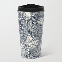 forest floor indigo ivory Travel Mug