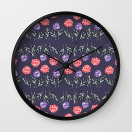 Scabiosa Wall Clock