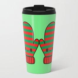 Cute stripy mittens Travel Mug