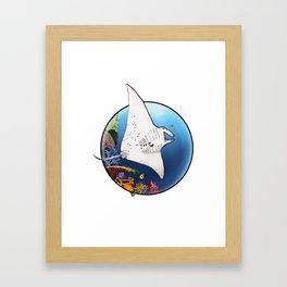 Manta Flight Framed Art Print