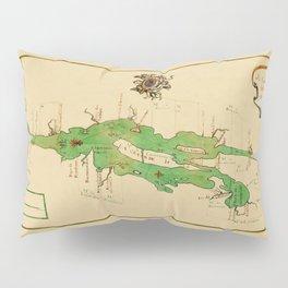 Map Of Lake Champlain 1740 Pillow Sham