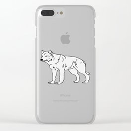 The Great Arctic Wolf Clear iPhone Case