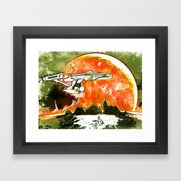 To Boldly Go Framed Art Print