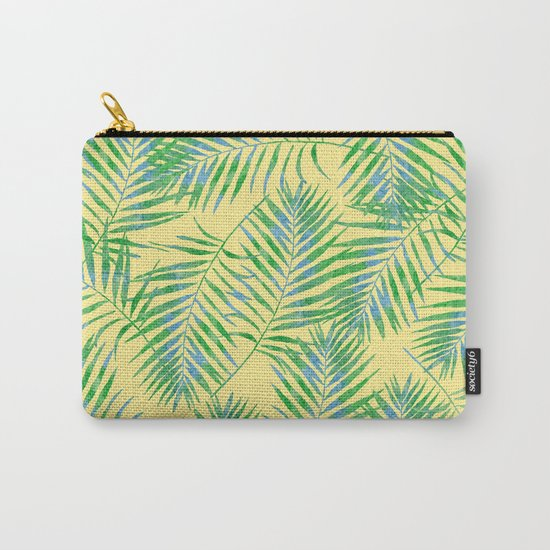 Fern Leaves Yellow Carry-All Pouch