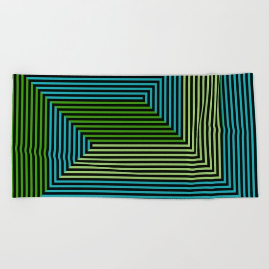 concentric 07 Beach Towel