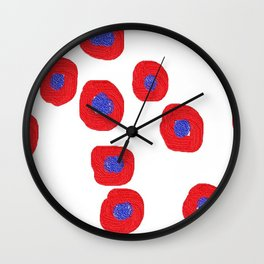 redblue3d Wall Clock