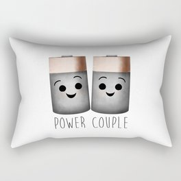 Power Couple | Batteries Rectangular Pillow