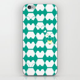 Honey Bee back to Nature with Love iPhone Skin