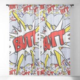 BUTT - Pop Art Style Sheer Curtain