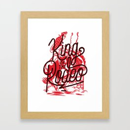 King Of The Rodeo Framed Art Print