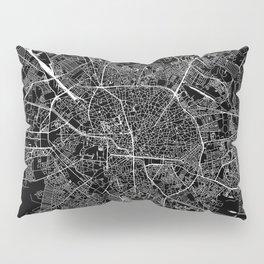 Bucharest Black Map Pillow Sham